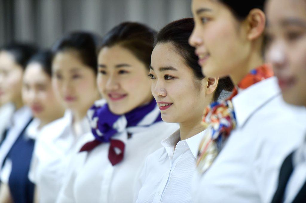 FUZHOU, March 13, 2017 - Students take part in a recruitment test of Xiamen Airlines at Fuzhou University in Fuzhou, capital of southeast China's Fujian Province, March 12, 2017. Xiamen Airlines ...