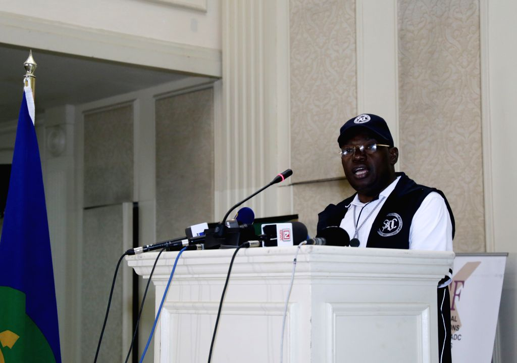 GABORONE, Oct. 25, 2019 - Sibusiso Moyo, Zimbabwe's Minister of Foreign Affairs and International Trade and head of the Southern African Development Community (SADC) Electoral Observation Mission to ...