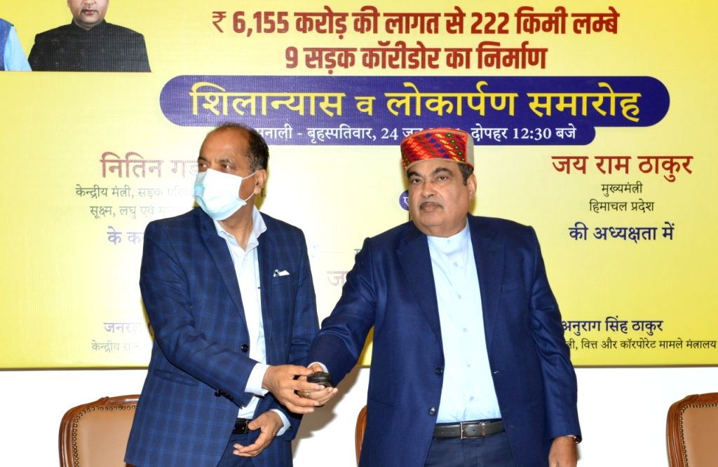 Gadkari opens, lays stones of Rs 6,155 crore in Himachal.