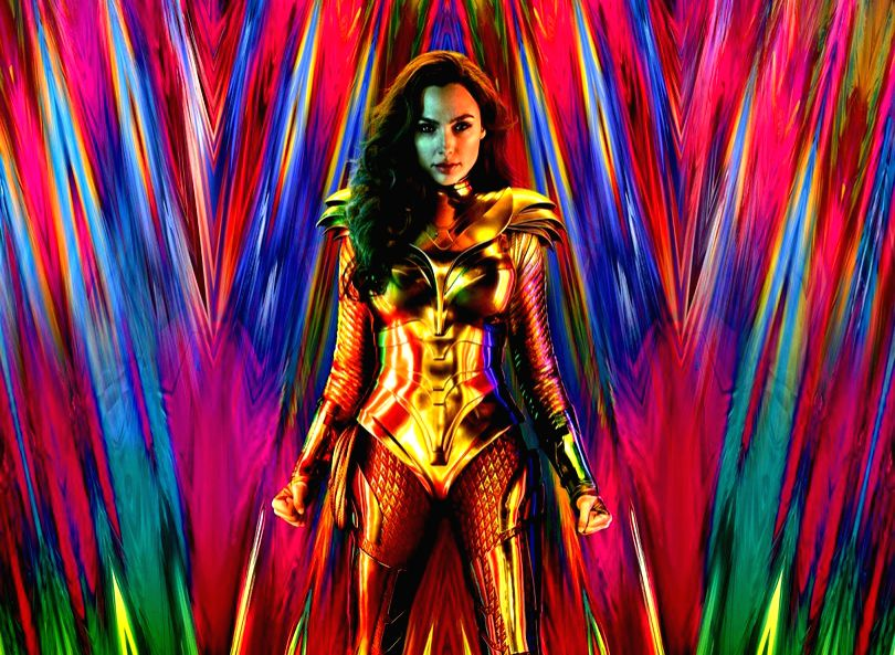 """Gal Gadot is back as Wonder Woman with a new golden armour, teasing fans about other surprises packed in """"Wonder Woman 1984"""" -- the second instalment of the superhero film franchise. (Photo: Twitter/@PattyJenks)"""