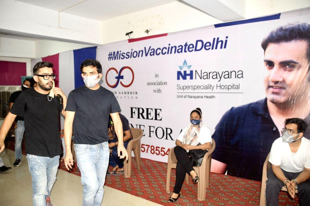 Gambhir sets up free Covid vax camps in East Delhi
