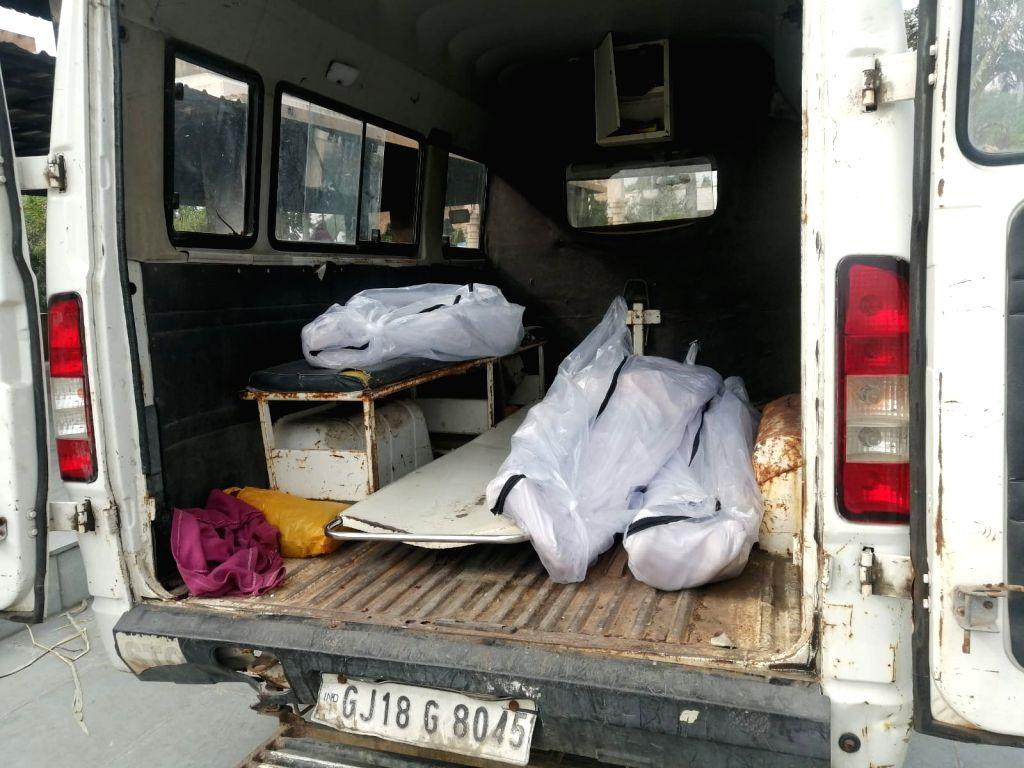 Gandhinagar Dead body van incident.