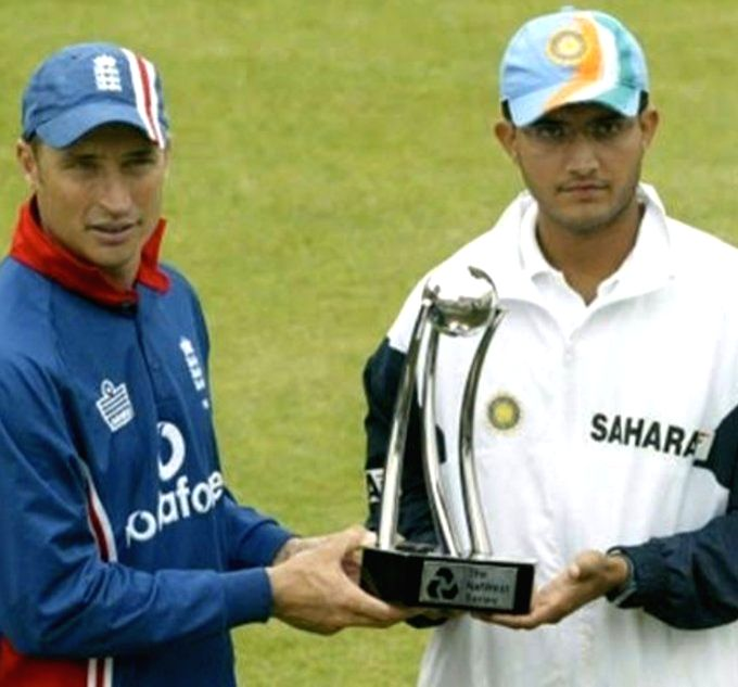 Ganguly, Hussain engage in funny banter over 2002 NatWest Trophy.