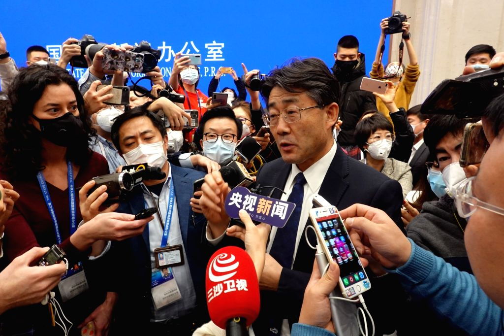 Gao Fu, head of the Chinese Center for Disease Control and Prevention (China CDC), answers questions at a press conference on the prevention and control of the ...