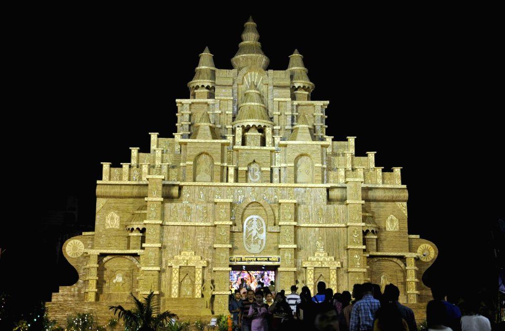 Garia Serampore Kalyan Samity Durga Puja Pandal in Kolkata, on Oct 7, 2016.