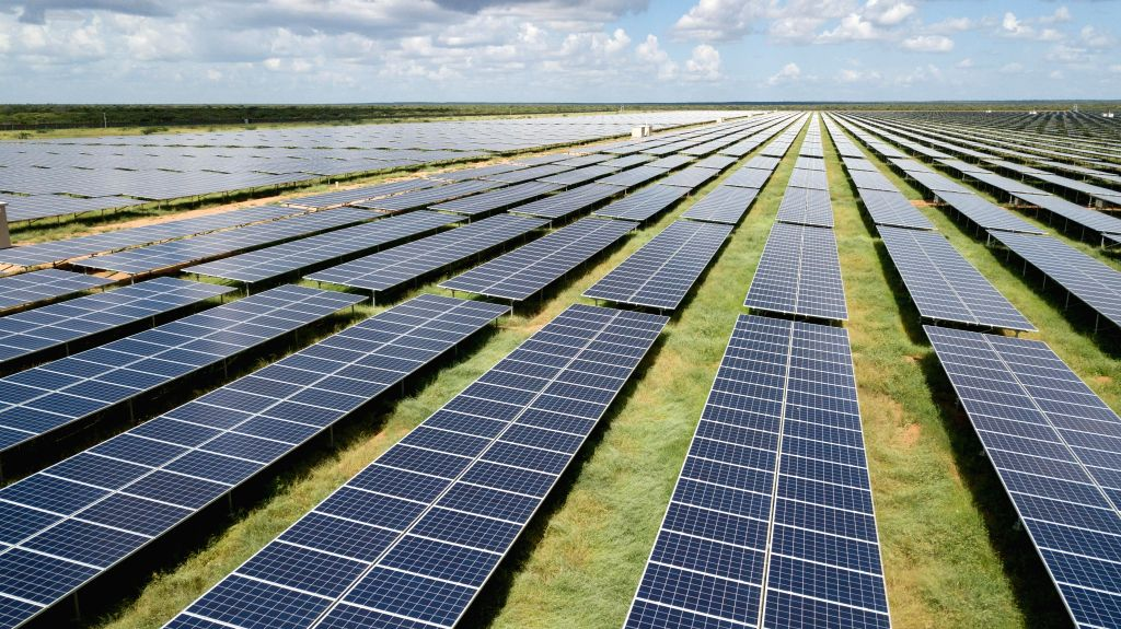 GARISSA, Dec. 14, 2019 - Aerial photo taken on Dec. 13, 2019 shows the 50 MW solar power farm in Garissa, Kenya. The plant, designed and built by the EPC contractor China Jiangxi Corporation for ... - China Jiangxi Corporation