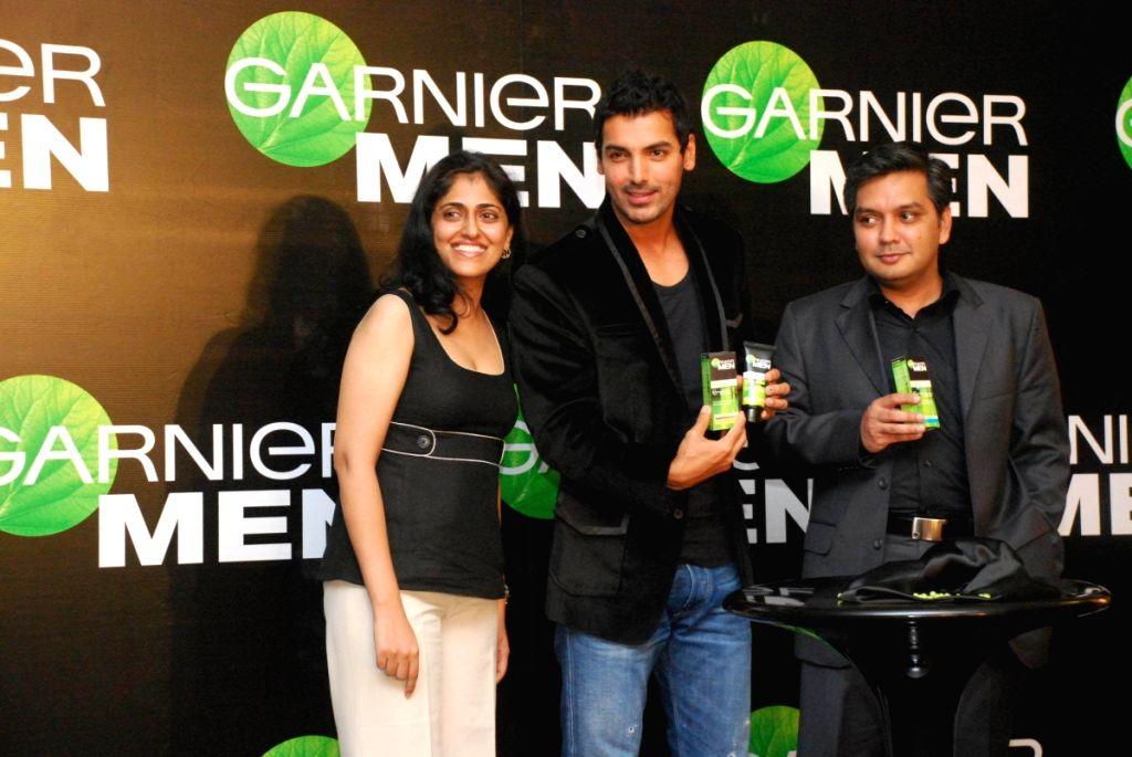 Garnier announced Bollywood actor John Abraham as their brand ambassador for their Garnier Men fairness cream at Hotel Trident in Mumbai on Thursday.
