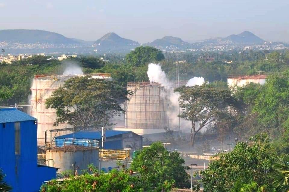Gas leakage at the LG Polymers unit located at RR Venkatapuram near Gopalapatnam in Visakhapatnam, Andhra Pradesh leaving one minor among 7 people dead, more than 70 left unconscious, ...