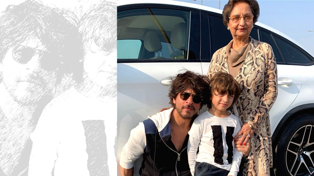 Gauri Khan recently took to social media to wish her mom a happy birthday and posted a photo of her mother along with SRK and AbRam posing in front of a car. - Khan