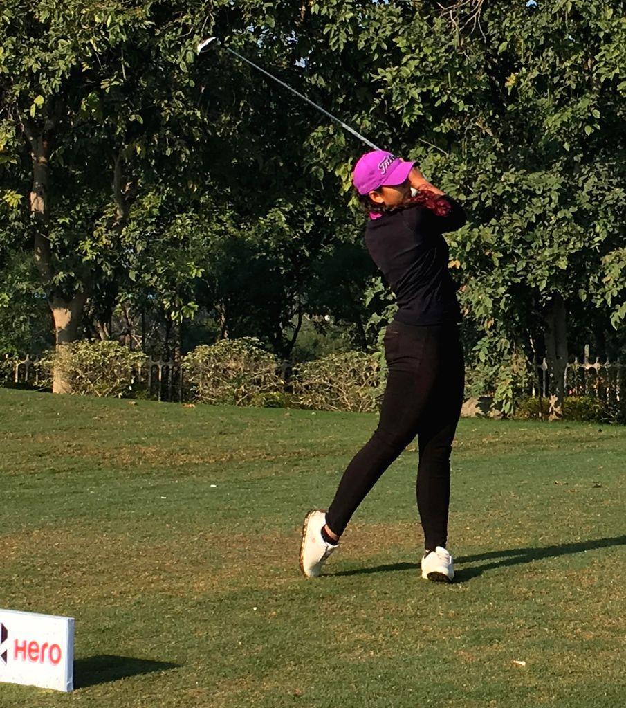 Gaurika Bishnoi during Women's Pro Golf Tour in Gurugram on March 6, 2019.