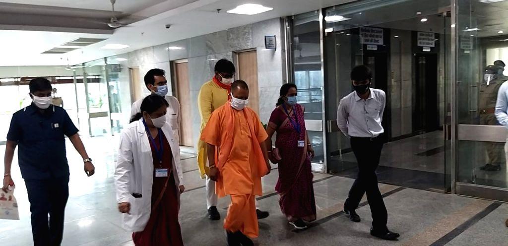 Gautam Buddha Nagar: CM Yogi inaugurates Sector 39 Kovid Hospital.