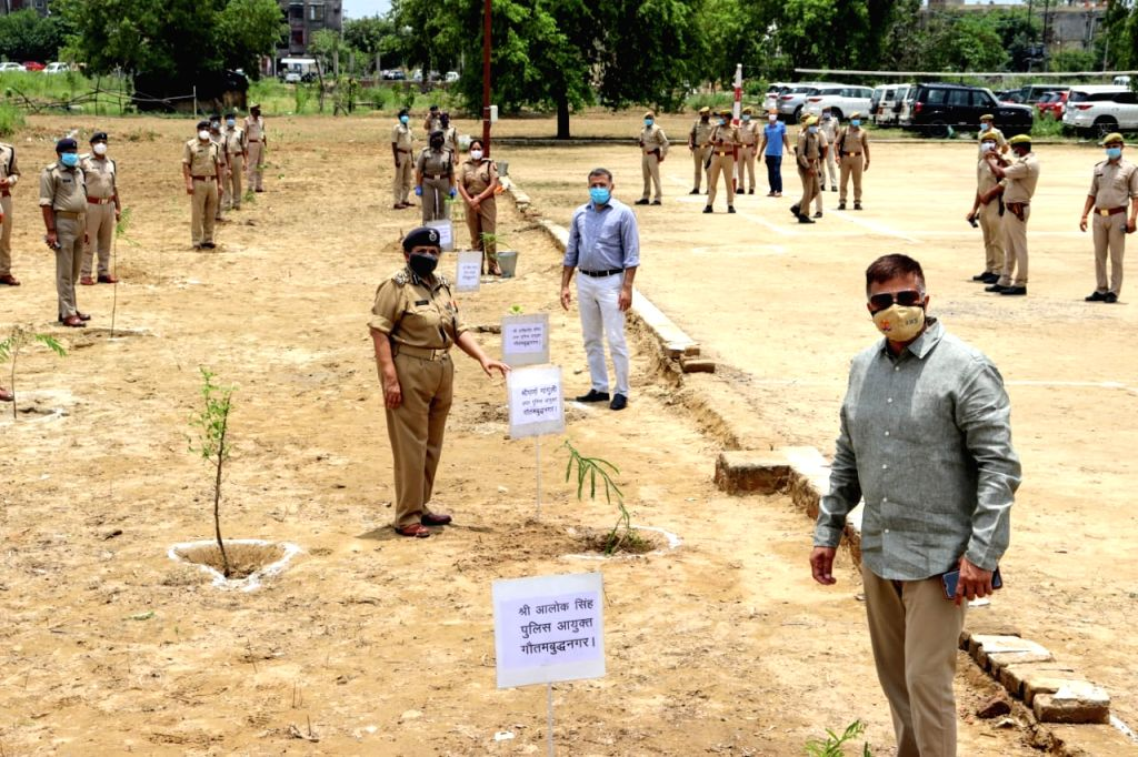 Gautam Budh Nagar police commissioner launches 'Mission tree plantation-2020' campaign.