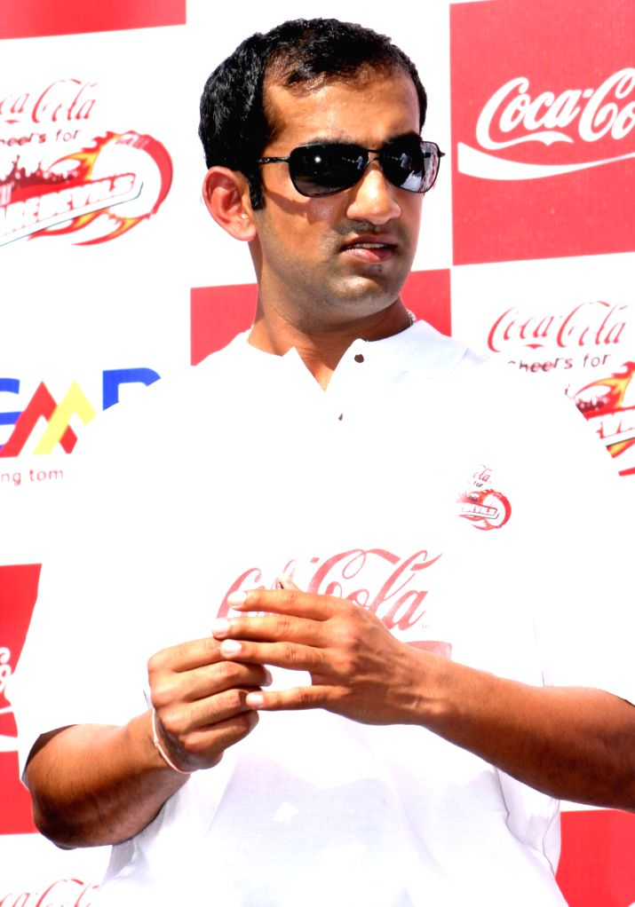 Gautam Gambhir at the special send off for the Delhi Daredevils team for the IPL 2nd Season, in New Delhi on Saturday 11 April 2009.