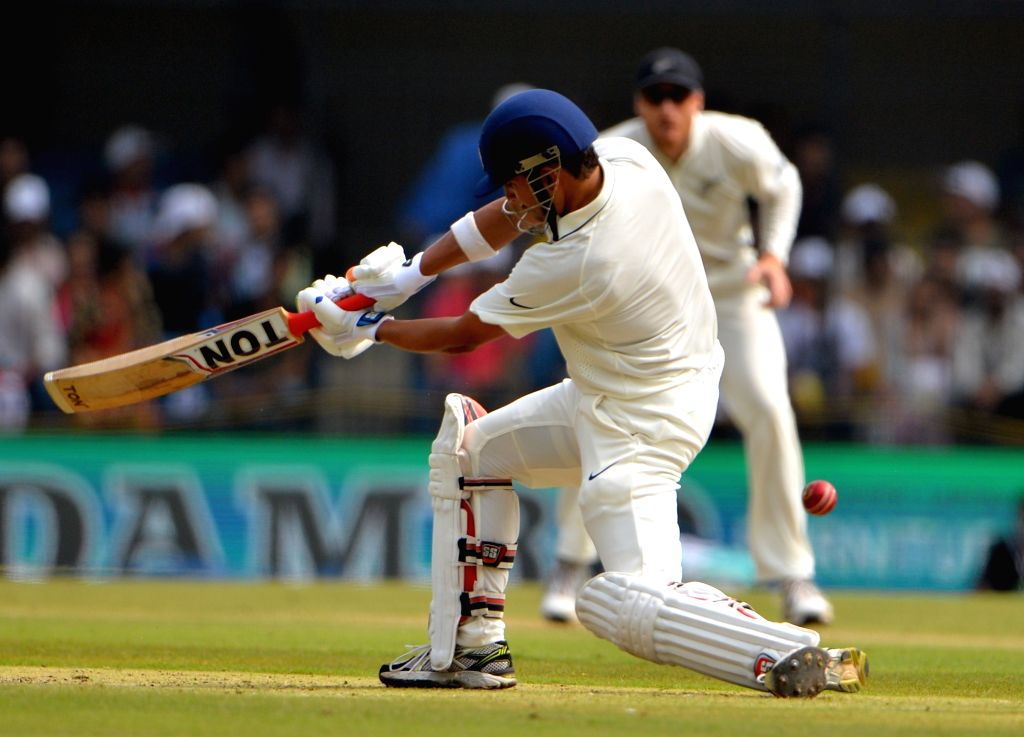 Gautam Gambhir of India in action on the first day of the third test match between India and New Zealand at Holkar stadium in Indore on Oct 8, 2016.