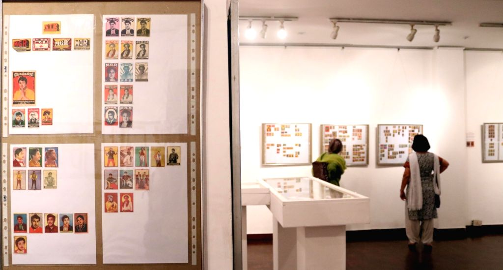 Gautam Hemmady exhibits his collection of Matchbox labels  at India International Centre in New Delhi, on June 2, 2016.