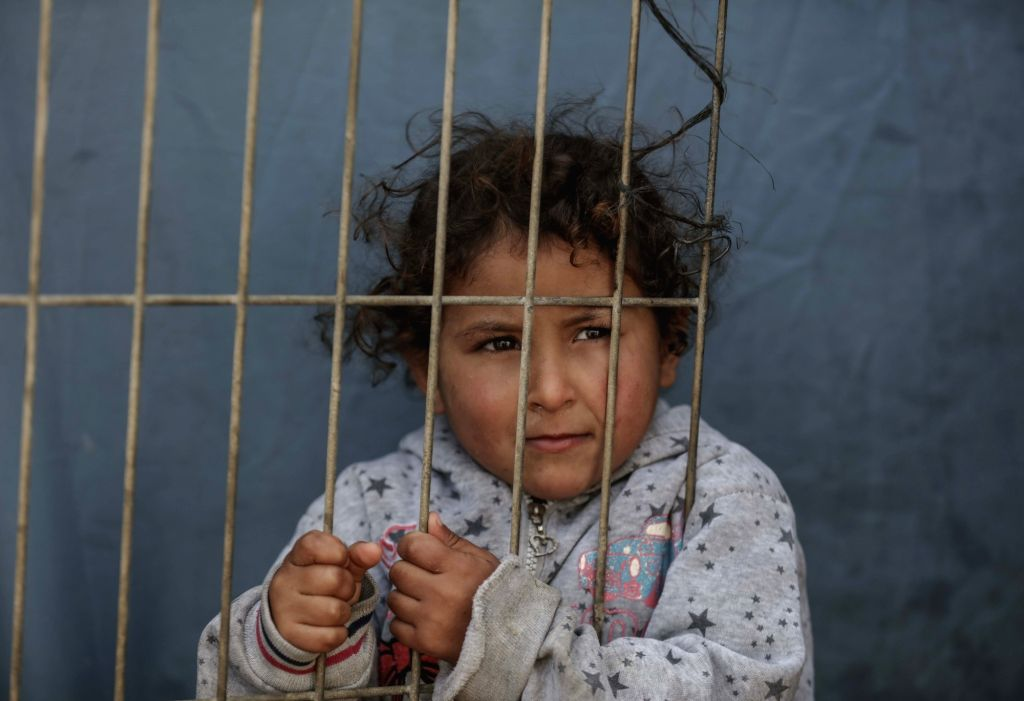 GAZA, Jan. 17, 2018 - A Palestinian refugee child is seen at al-Shati refugee camp in Gaza City, on Jan. 17, 2018. The United Nations Relief and Works Agency for Palestine Refugees (UNRWA) said ...