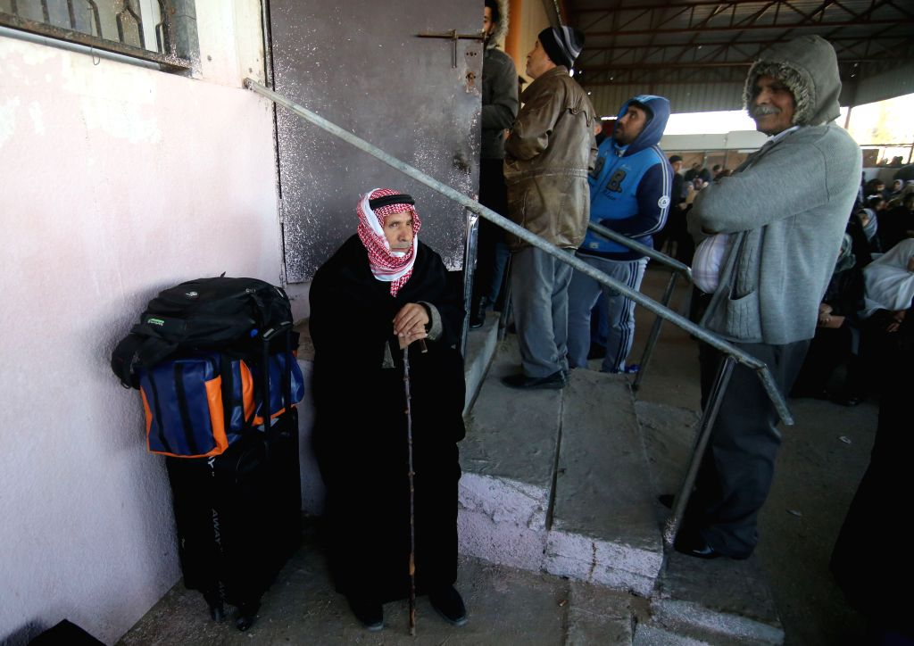 GAZA, Jan. 29, 2019 - Palestinians wait to enter Egypt through the Rafah border crossing in the southern Gaza Strip city of Rafah, Jan. 29,  2019. The Hamas-run Ministry of Interior announced on ...