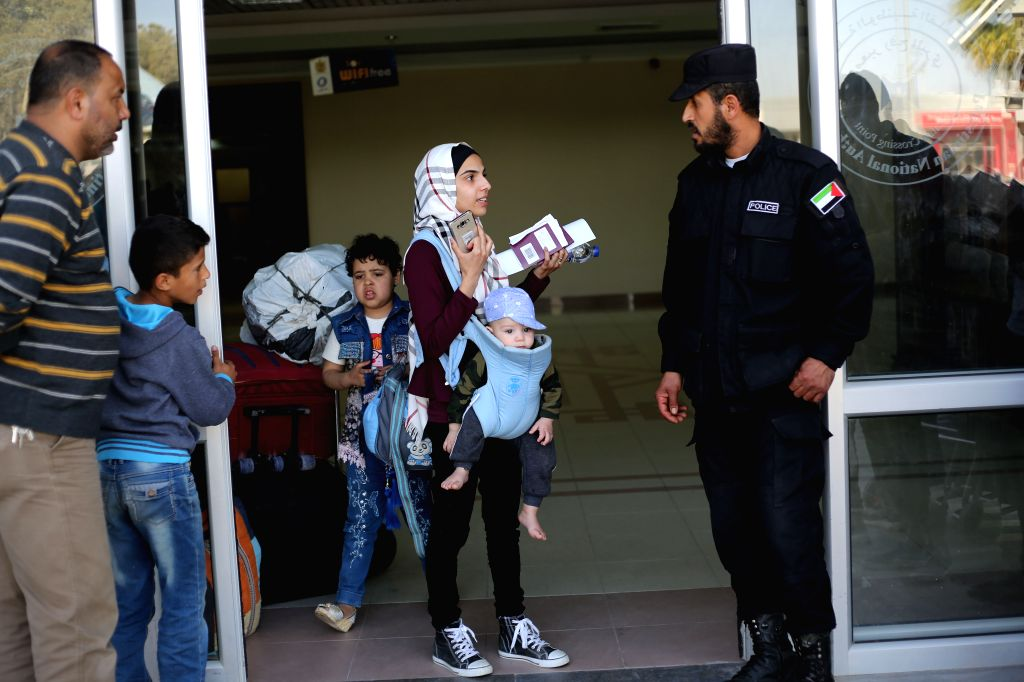 GAZA, May 7, 2017 - Palestinians arrive at the Rafah crossing after it was opened by Egyptian authorities to allow stranded Palestinians to return to Gaza, in the southern Gaza Strip City of Rafah, ...