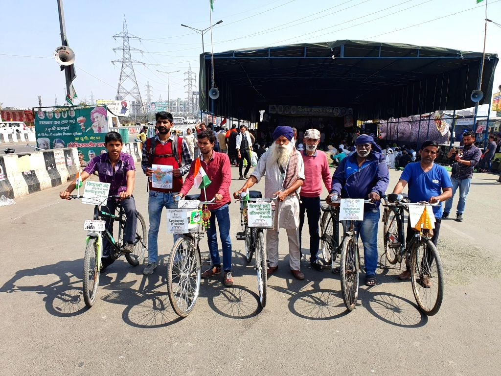 Gazipur : Farmers will take cycle march from Kanyakumari to Kashmir, people of 20 states will be aware.