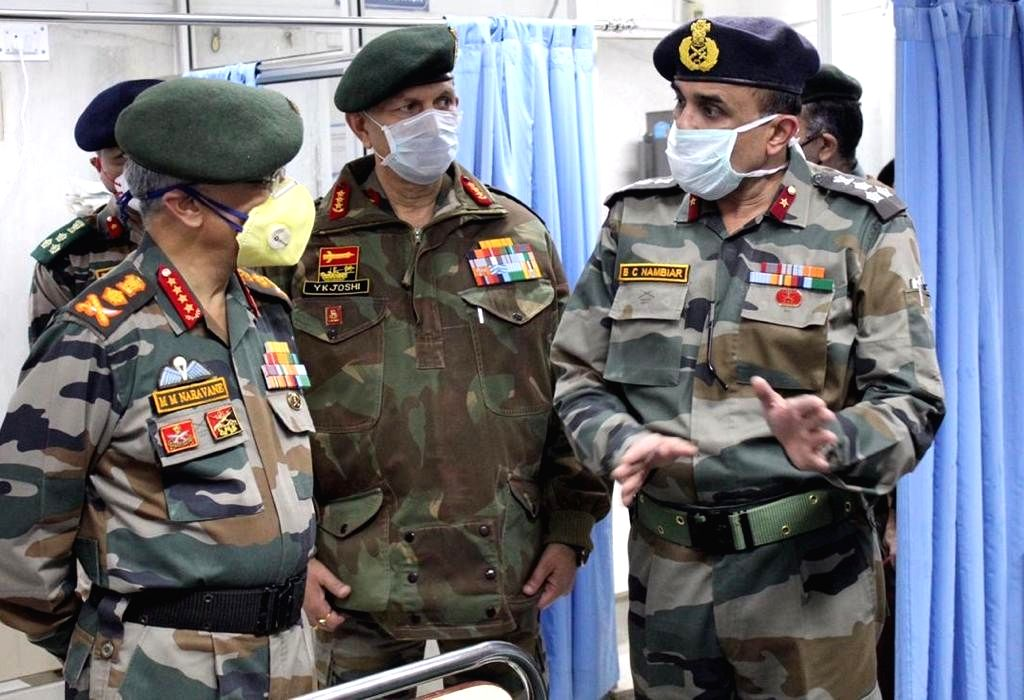 General MM Naravane, Chief of Army Staff (COAS) is on a two day visit to Kashmir to review the prevailing security situation. The COAS accompanied by the Northern Army Commander, Lt Gen YK Joshi and Chinar Corps Commander, Lt Gen BS Raju visited the