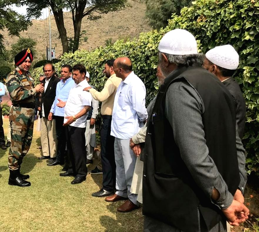 General Officer Commanding-in-Chief, Northern Command of the Indian Army Lieutenant General Ranbir Singh during his visit to the Kashmir valley to review prevailing situation in the region, ...