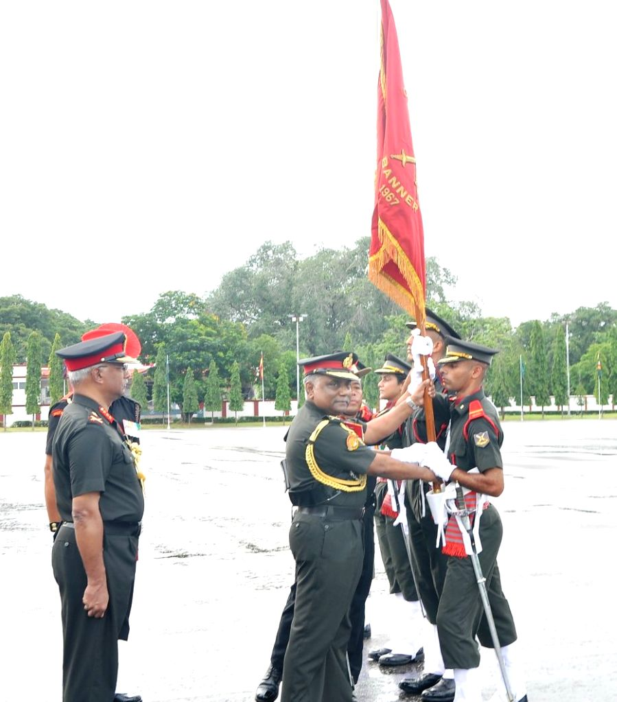 General Officer Commanding-in-Chief, Southern Command Lieutenant General PM Hariz reviews the Passing out Parade at Officers Training Academy in Chennai on Sept 9, 2017.