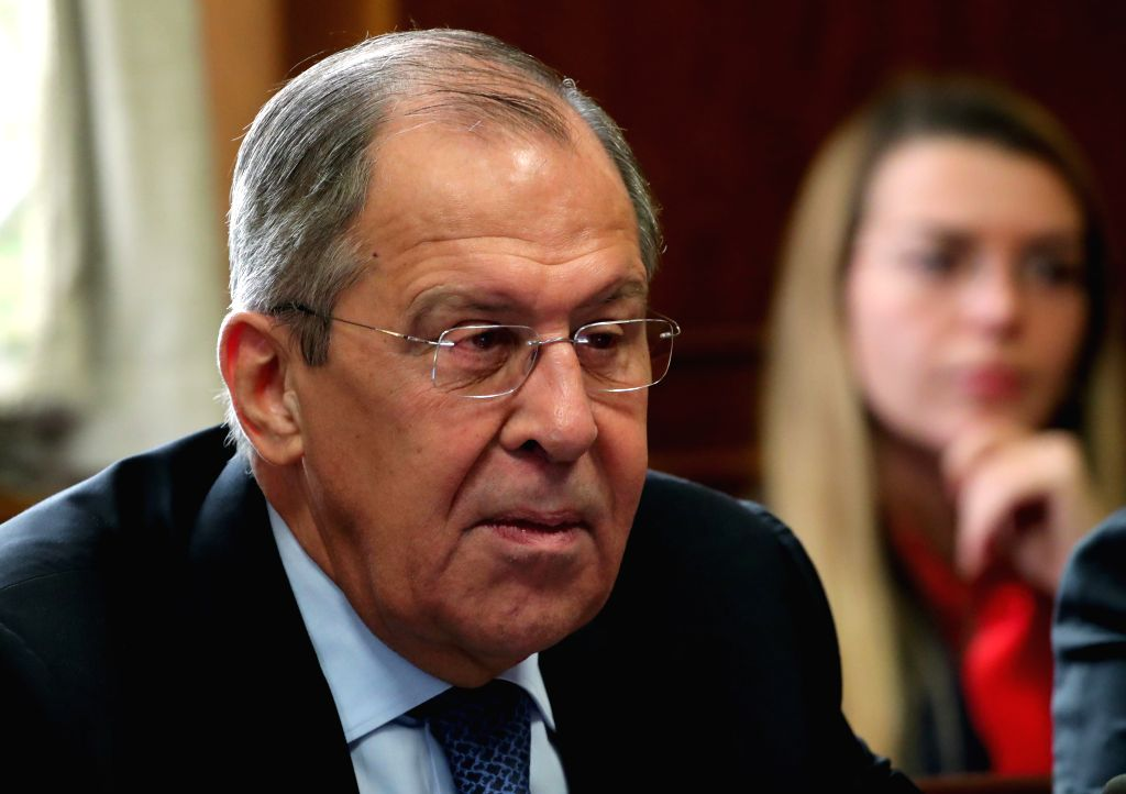 GENEVA, Dec. 18, 2018 (Xinhua) -- Russian Foreign Minister Sergei Lavrov attends a meeting on forming a constitutional committee in Syria at the European headquarters of the United Nations in Geneva, Switzerland, Dec. 18, 2018. (Xinhua/POOL/Denis Bal - Sergei Lavrov