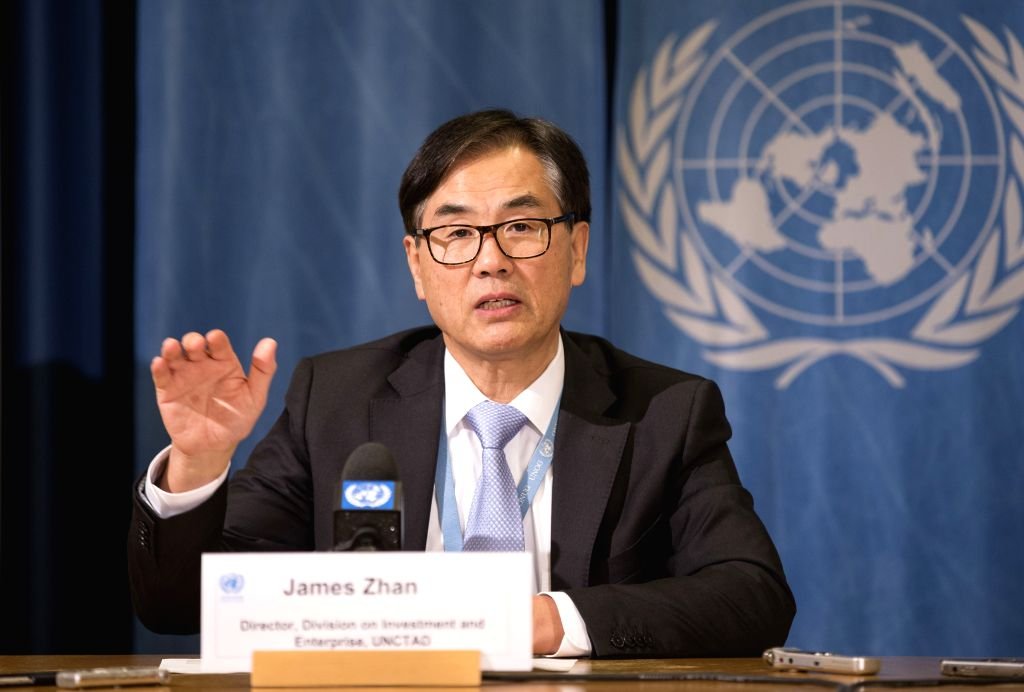 GENEVA, Jan. 22, 2019 - James Zhan, director of Investment and Enterprise of the UN Conference on Trade and Development (UNCTAD) attends the release conference of 2019 Investment Trends Monitor in ...