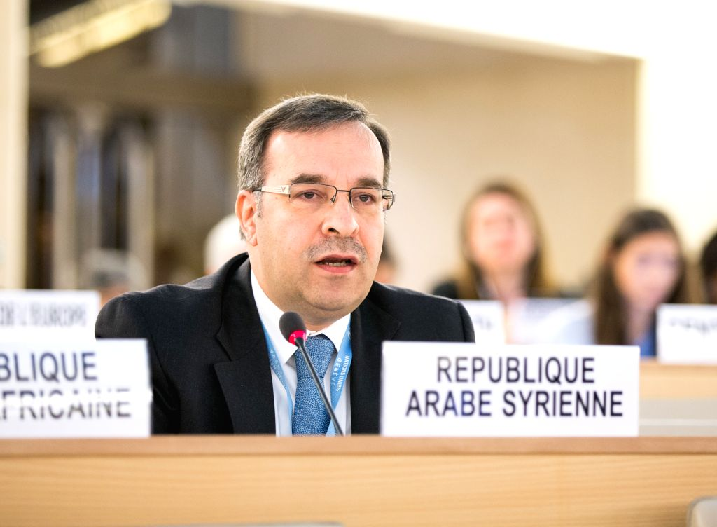 GENEVA, June 21, 2016 - Hussam Edin Aala, Permanent Representative of Syrian Arab Republic to the United Nations Office at Geneva, delivers a speech at the 32nd session of the Human Rights Council ...