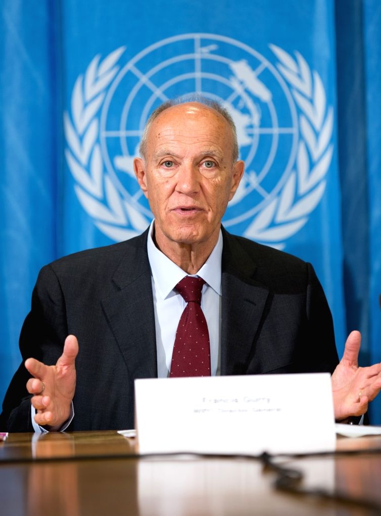 GENEVA, March 16, 2017 - World Intellectual Property Organization (WIPO) Director General Francis Gurry addresses a press conference in Geneva, Switzerland, March 15, 2017. Francis Gurry on Wednesday ...