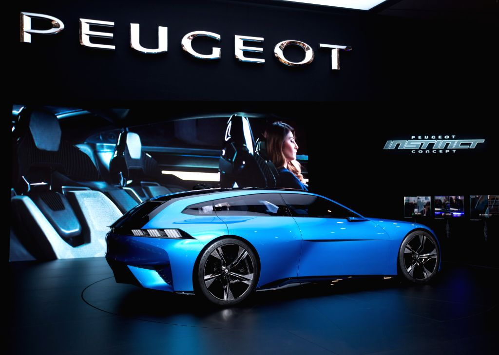 GENEVA, March 8, 2017 - A Peugeot Instinct concept car is seen on the second press day of the 87th International Motor Show in Geneva, Switzerland, on March 8, 2017.