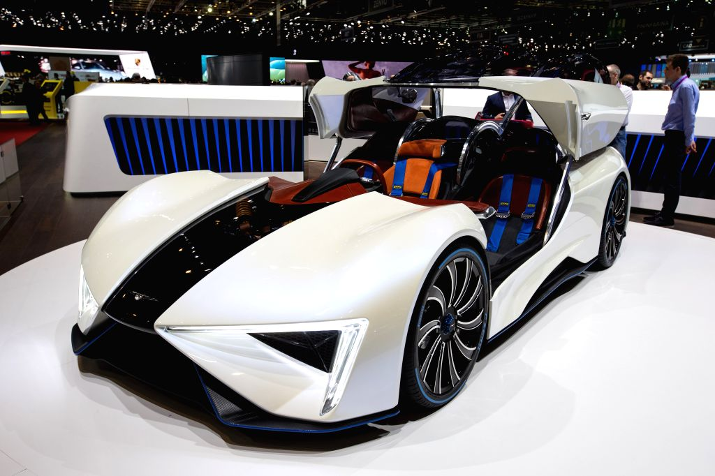 GENEVA, March 8, 2017 - A Techrules Ren concept car of Chinese electric-carmaker Techrules is seen on the second press day of the 87th International Motor Show in Geneva, Switzerland, on March 8, ...