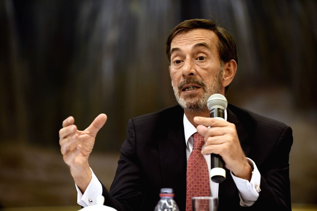 GENEVA, May 25, 2018 - Jose R. Nunez, an expert from the World Health Organization (WHO), speaks during a press conference in Geneva, Switzerland, on May 25, 2018. Experts introduced China's reform ...