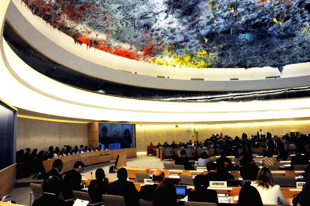 A special session of the United Nations Human Rights Council (HRC) on human rights situation in Iraq, is held in Geneva, Switzerland, Sept. 1, 2014. The United ...