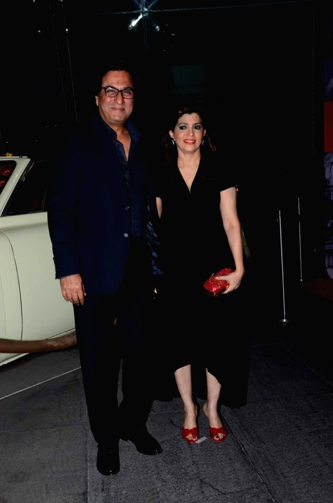 Ghazal singer Talat Aziz along with his wife Bina Aziz during the birthday celebrations of actor Kabir Bedi in Mumbai, on Jan 16, 2016.