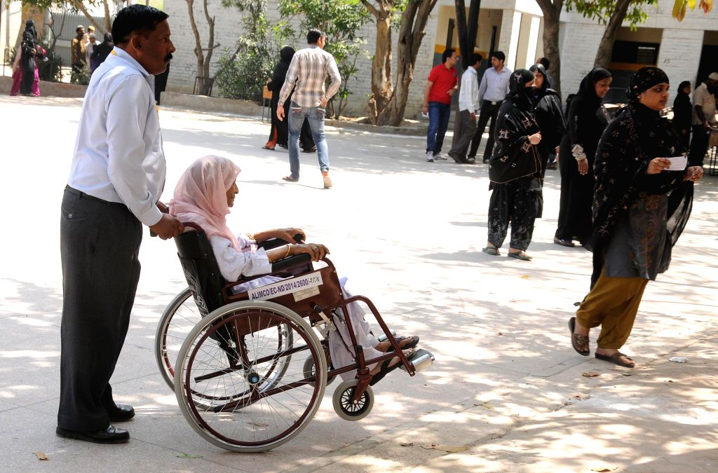 Ghaziabad will have 3,000 polling stations in the Lok Sabha polls and each of them will have a wheel chair. (Photo: IANS)