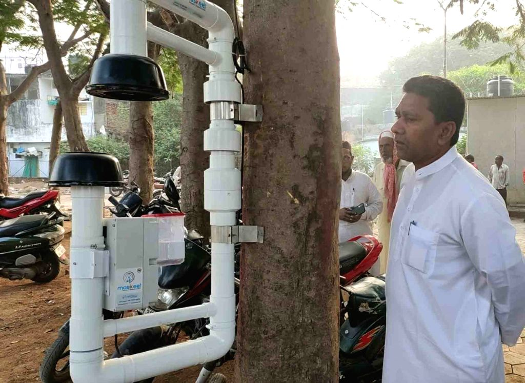 GHMC Additional Commissioner Musharraf Ali Faruqui examines the production unit where oil balls are being manufactured to check mosquito breeding in order to prevent diseases like of ...