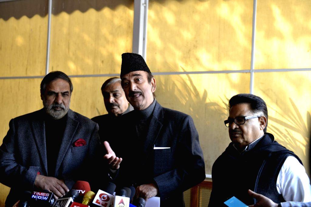 Ghulam Nabi Azad and Anand Sharma. (Photo: IANS) - Anand Sharma
