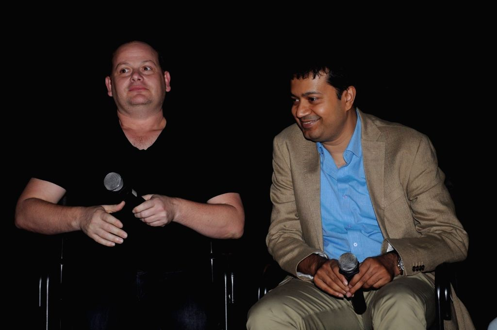 Gideon Raff with Gaurav Banerjee arrive to attend the screening of Nikkhil Advani`s TV show `P.O.W. Bandi Yuddh Ke` at the Jio MAMI 18th Mumbai Film Festival, in Mumbai on Oct 25, 2016. - Gaurav Banerjee and Nikkhil Advani
