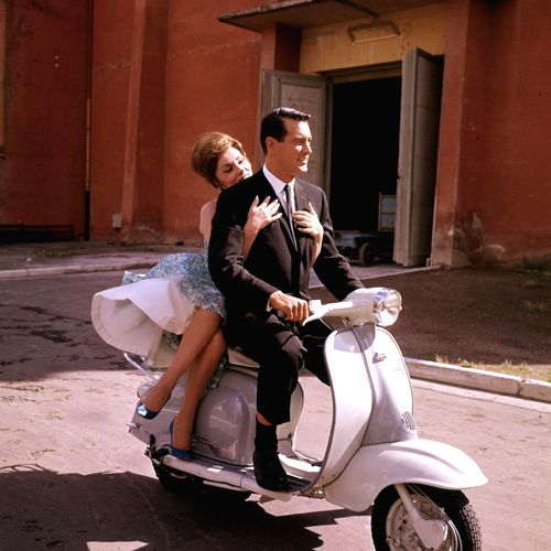"""Gina Lollobrigida with Rock Hudson in iconic romantic comedy """"Come September"""""""