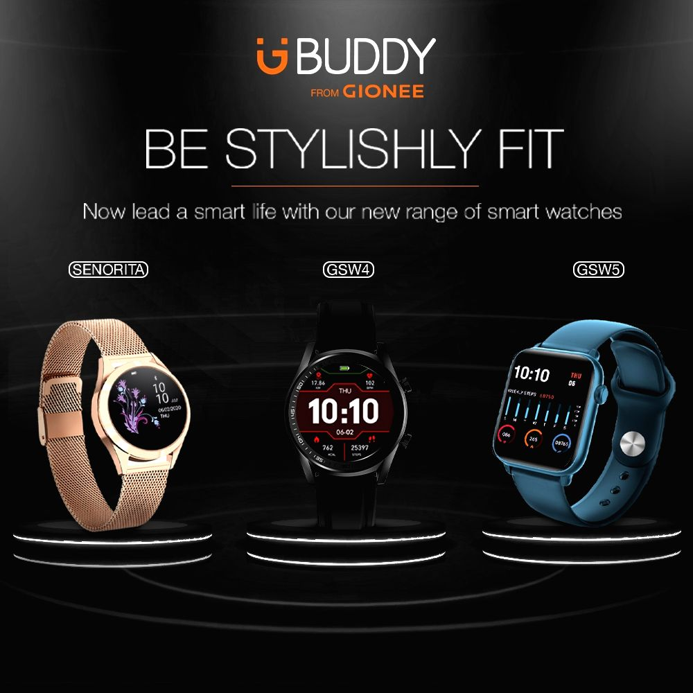 Gionee returns, unveils 3 smart 'Life' watches in India.