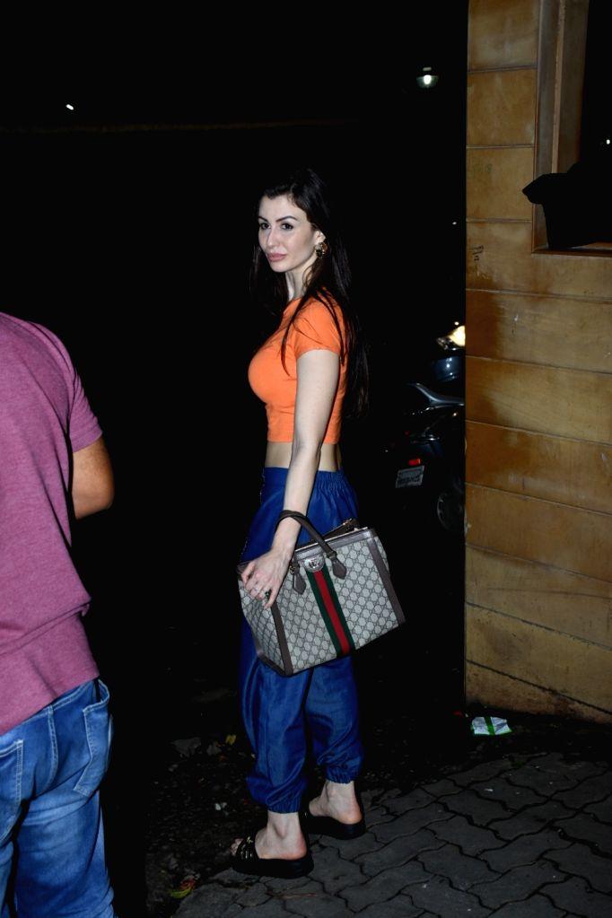 Giorgia Andriani, girlfriend of actor Arbaaz Khan seen outside Sohail Khan's house, in Mumbai, on June 16, 2019. - Arbaaz Khan and Sohail Khan