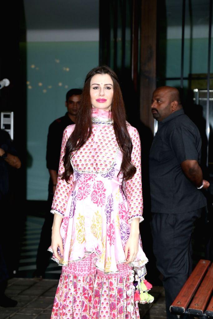 Giorgia Andriani girlfriend of actor Arbaaz Khan seen at Arpita Khan's house for Ganesh darshan in Mumbai, on Sep 3, 2019. - Arbaaz Khan and Arpita Khan