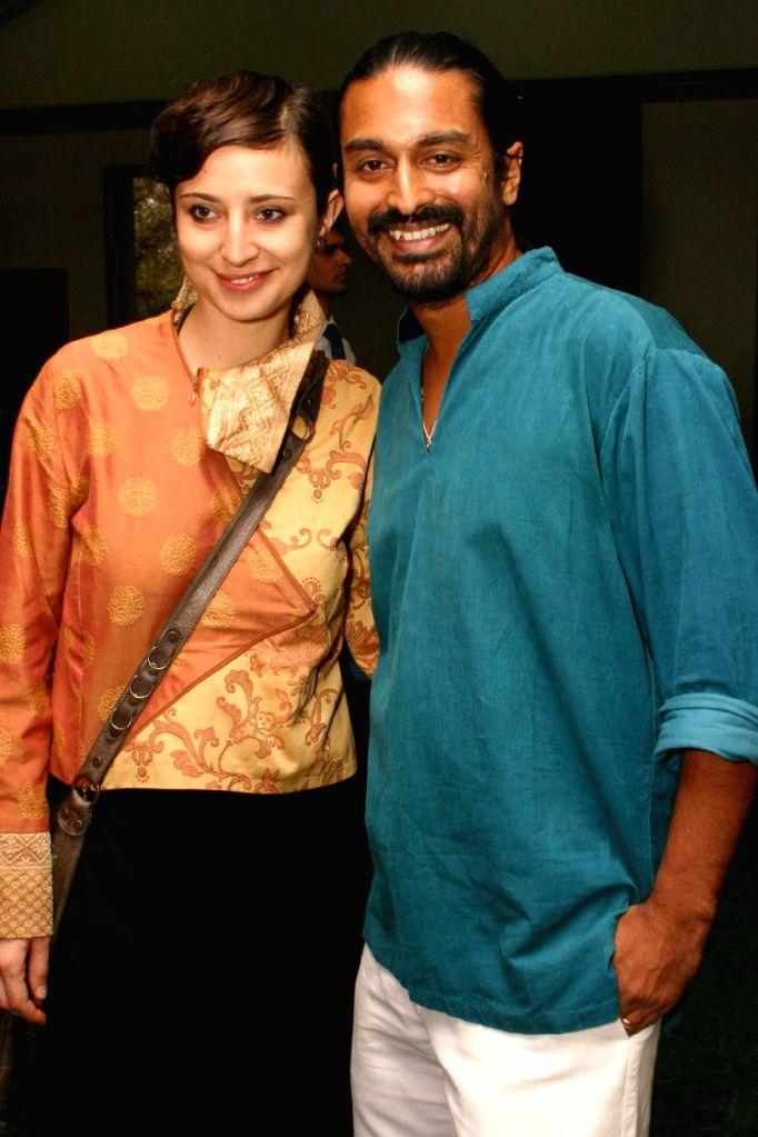 "Giulia Achilli and Raja Menon at the special screening of film ""Barah Aana"" , in New Delhi on Tuesday 17 March 2009. - Menon"