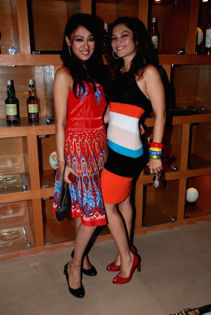 Glamorous Models at United White Flag music launch.