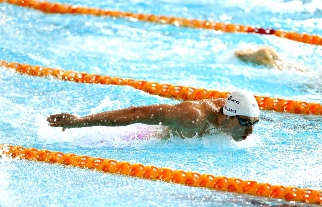 Daniel Wallace of Scotland competes during the men's 400M individual medley final at the 2014 Glasgow Commonwealth Games held in Glasgow, Scotland on July 25, 2014.