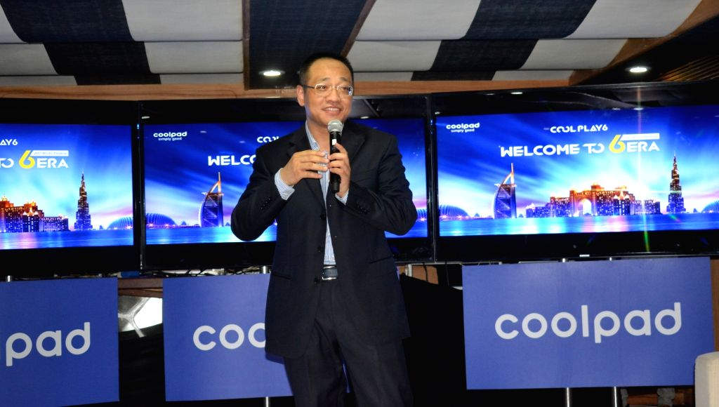Global CEO of Coolpad James Du during the launch of Coolpad Cool Play 6 in Dubai on Aug. 20, 2017. Cool Play 6 smartphone is powered by 1.4Ghz Octa-core Qualcomm Snapdragon 653 processor and ...