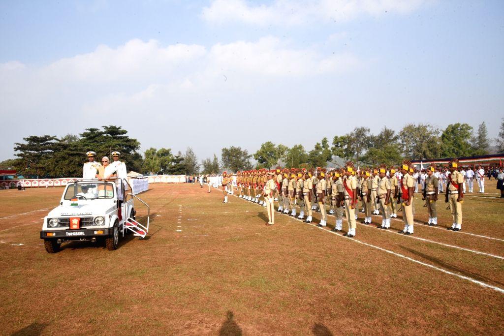 Goa Governor Mridula Sinha inspects the Guard of Honour during 2019 Republic Day Parade at Campal Ground in Panjim on Jan 26, 2019. - Mridula Sinha