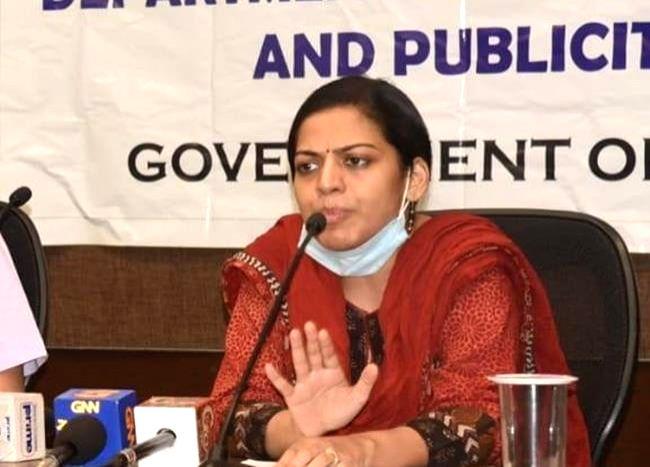 Goa Health Secretary Nila Mohanan. (Photo: facebook@IPGoa)