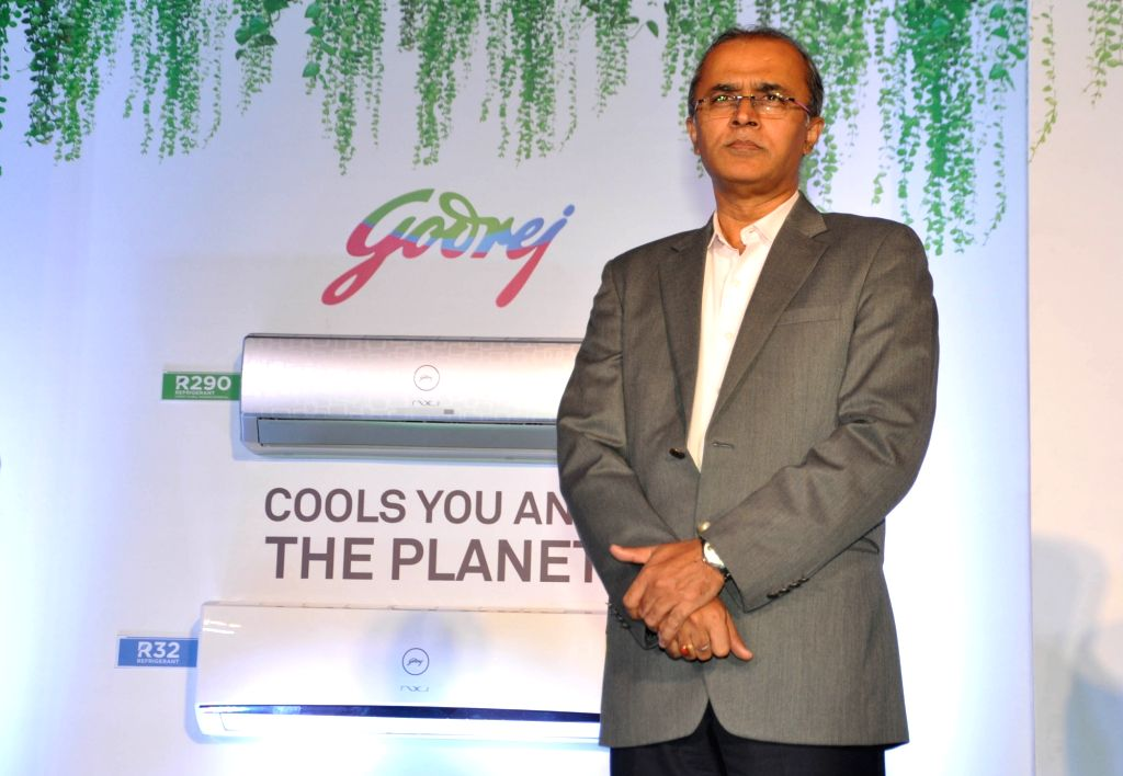 Godrej Appliances Business Head and Executive Vice President Kamal Nandi launches Godrej R32 and R290 air conditioner refrigerants in Kolkata, on March 5, 2019.